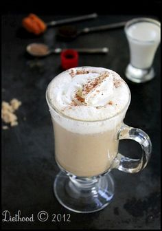 Starbucks Copycat Pumpkin Spice Latte- quick note- at your risk try blending the warmed mixture in a blender or with an immersion blender to get it extra foamed.