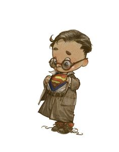 Superheroes Drawn as Adorable Little Kids ★ Find more at http://www.pinterest.com/competing/