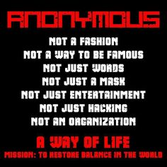 Anonymous a way of life | Anonymous ART of Revolution