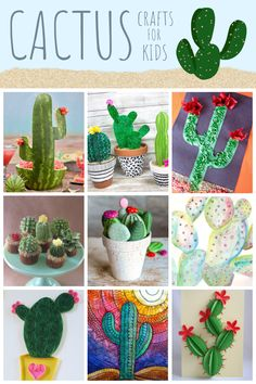 Cactus Crafts for Kids   Fun Family Crafts Recycled Crafts Kids, Crafts For Kids, Cactus Craft, Ice Cream Day, Edible Crafts, Family Crafts, Craft Tutorials, Kids And Parenting, Cactus Plants