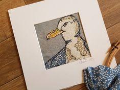Seamus Seagull unframed textile artwork