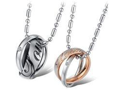 Couple's 'Love' necklaces
