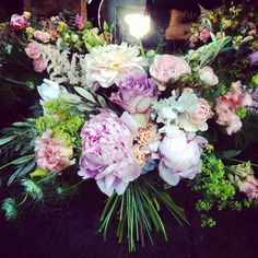 Frilly soft textures, Peonies and Nigella