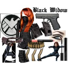 """Halloween 2012  """"Black Widow"""" by krill on Polyvore"""
