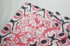 Self Binding Receiving Blanket Tutorial - Sew Much Ado