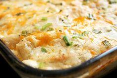 Creamy White Chicken Enchiladas w/ Greek Yogurt (@CreoleContessa)