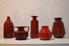 Italy Vasen Mid Century Pottery Italien Vase Vintage Pop Art