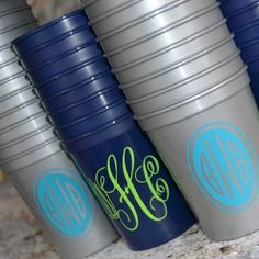 Cheap monogram cups! This is a great monogram Web site that has so much stuff!