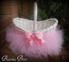 Personalized Monogramed Tutu Easter Baskets In Your by BeatrixBows, $25.00 ways-to-organize-hair-accesories