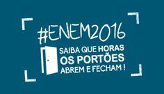 Horários de abertura e fechamento dos portões do Enem 2016