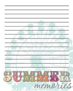 Summer Memories - 7 Freebie Printable's