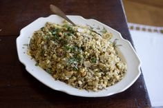 Sunchoke and Cashew Stir-fry  Recipe  - A beautiful fried rice made with brown rice, egg, sunchokes, cashews, and basil when Grace Young came over for lunch last week. - from 101Cookbooks.com
