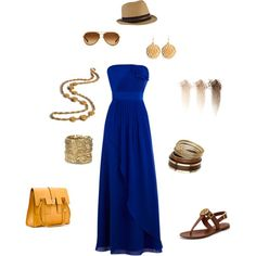 Summer casual blue-so comfy looking! created by tsteele