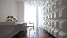 Fabulous Modern Home Office Design With Floating Table And Unique White Embossed Wall Table Private Residence Marcel Wanders Best Interior Design, Interior Design Studio, Home Office Design, Luxury Interior, House Design, Luxury Furniture, Amsterdam Houses, Marcel, Design Projects