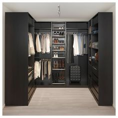 PAX Corner wardrobe – black-brown – IKEA Source by rinnoroni Next Previous Corner Dining Bench Small Kitchen Table With Corner…Home Story Ikea pax wardrobe Ikea Pax Corner Wardrobe, Diy Wardrobe, Bedroom Wardrobe, Wardrobe Design, Wardrobe Storage, Ikea Pax Closet, Open Wardrobe, Wardrobe Ideas, Armoire Wardrobe