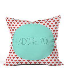 I Adore You Pillow