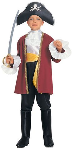 pirate costume toddler boy - Courageous Captain Child's Costume, Medium ** More info could be found at the image url. (This is an affiliate link) Pirate Costume Kids, Toddler Boy Halloween Costumes, Pirate Kids, Pirate Dress, Halloween Dress, Halloween 2019, Halloween Stuff, Costume Hats, Boy Costumes