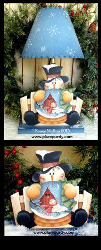 #502 Winter Slumber Snow Globe (PATTERN PACKET)  www.plumpurdy.com