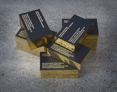 Bling biz cards gold black