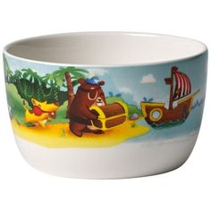 Villeroy & Boch The colourful Chewy's Treasure Hunt Cereal Bowl makes cereal, fruit and other breakfast foods a real experience. It's made from top quality premium porcelain and is dishwasher safe and microwavable. Villeroy, Cereal Bowls, Fruit, Tableware, Dishwasher, Hairstyles, Foods, Breakfast, Unique