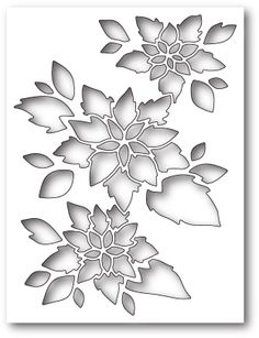 Memory Box 99585 Poinsettia Collage wafer thin craft die made from steel. Memories Box, Stencil Designs, Paint Designs, Origami Christmas Ornament, Handmade Christmas, Christmas Cards, Paper Quilling Designs, Quilling Cards, Memory Box Dies