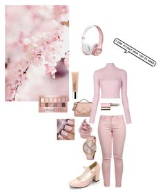 """Pretty in pink"" by beoncat ❤ liked on Polyvore featuring Maison Scotch, Beats by Dr. Dre, Disney, Komono, Karl Lagerfeld, A.L.C., Clarins, Clinique and Maybelline"