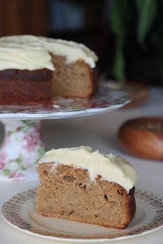 Quince and apple cake with golden syrup (or treacle or honey or molasses) cream cheese frosting.