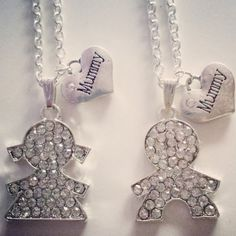 Necklace for mothers  baby boy or baby girl pendant with