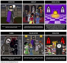 The Masque of the Red Death by Edgar Allan Poe - Summary: A  common activity for students is to create a plot diagram of the events from a story. Not only is this a great way to teach the parts of a plot but to reinforce major events and help students develop greater understanding of literary structures.