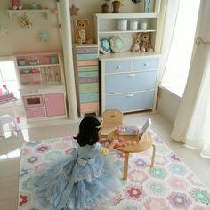 nikonikoさんの、お姫様気分,おままごとキッチン,パッチワークキルト,きっずスペース,お姫様ごっご,ベッド周り,のお部屋写真