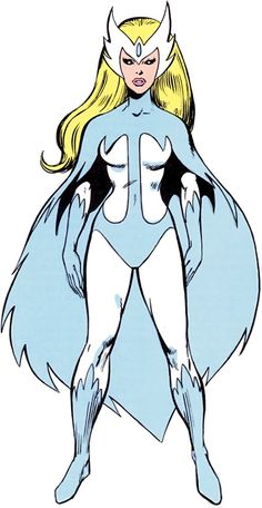 Snowbird (Narya) is a fictional character, a superhero appearing in American comic books published by Marvel Comics. Created by John Byrne, the character made her first appearance in Uncanny X-Men Drawing Cartoon Characters, Comic Book Characters, Character Drawing, Marvel Characters, Comic Books Art, Cartoon Drawings, Comic Art, Character Design, Character Profile