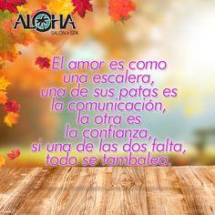 El amor sin comunicación o confianza nunca será estable.
