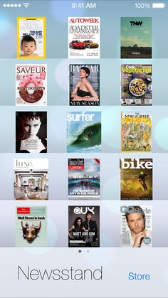 iOS 7 Newsstand, iTunes Ios 7 Design, Apple Launch, Itunes, Gallery, Image