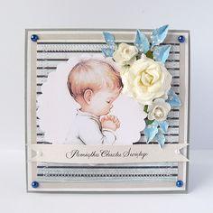 PAMIĄTKA CHRZTU ŚWIĘTEGO ANNA CAROLINA . KARTKI Piękna i elegancka kartka. Stworzona metodą scrapbookingu z elementami 3D.