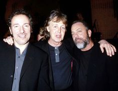 Bruce Springsteen, Paul McCartney, & Billy Joel- 14th Annual Rock & Roll Hall of Fame Induction Dinner in NYC: 3-15-99