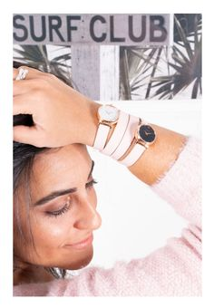 Be pink, be chic with our Guillot double strap watches Double S, Working Woman, Parisian, Have Fun, Watches, Elegant, Luxury, Chic, Classic