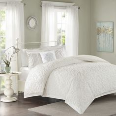 White,Solid Color,King Fashion Bedding: Free Shipping on orders over $45 at Overstock.com - Your Online Fashion Bedding Store! Get 5% in rewards with Club O!