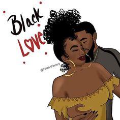 Sexy Black Art, Black Girl Art, Black Women Art, Red Black, Black Couple Art, Black Couples, Drawings Of Black Girls, Couple Drawings, Black Love Artwork