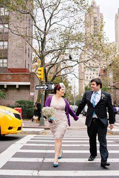 Sarah and Chris's last-minute-hurricane-rescheduled wedding. (Sarah Hoppes Photography) #acitywedding #city #wedding