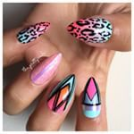Instagram photo by the_prettynails -  #Nails #NailArt #NailLacquer #NailDesign #NailGasm #NailPorn #NOTD #NailsOfTheDay #NailsOfInstagram #LongNails #FakeNails #Pink #Neon #SummerNails #LeopardPrint #TribalNails #OmbreNails #FadeNails