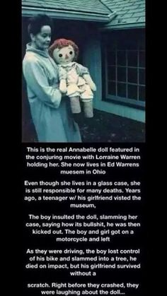 The Real Annabelle Doll Scary Horror Stories, Short Creepy Stories, Spooky Stories, Weird Stories, Real Horror, Paranormal Stories, Creepy Horror, Short Stories, Wow Facts