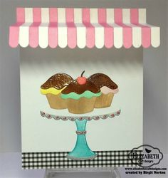 Hello~ I've got a sweet card for you today using some fun products from Elizabeth Craft Designs .        How about a plate of freshly bak...