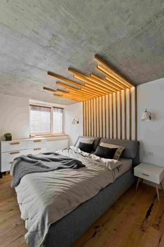 Scandinavian Modern Loft Interior by InArch / Scandinavian Modern Loft Interior by InArch Scandinavian Modern Loft Interior by InArch Related + Elegante Schlafzimmer Ideen Dekoration, Small Bedroom Ideas.