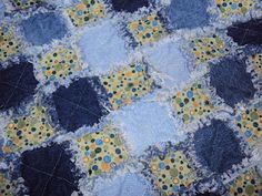 Livin' and Lovin' life ~ Easy baby blue jean quilt