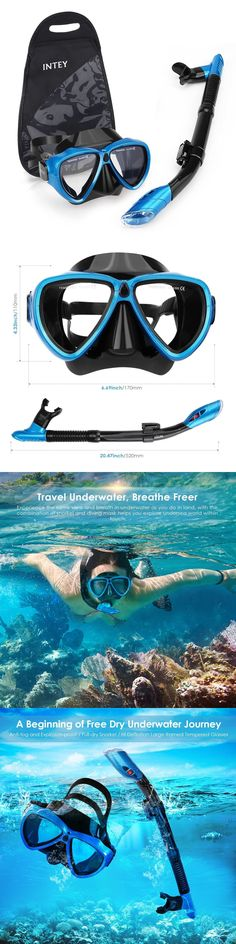 Snorkels and Sets 71162: Diving Mask Snorkel Set Dry Anti-Fog Goggles Purge Valve Scuba Swimming Adult -> BUY IT NOW ONLY: $36.99 on eBay!