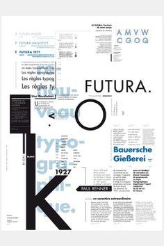 design of a cm poster to promote the Futura typeface Typo Poster, Typographic Poster, Typographic Design, Type Design, Book Design, Layout Design, Print Design, Typography Layout, Graphic Design Typography
