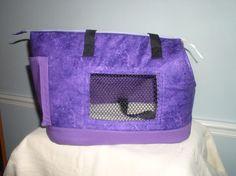 Large Purple dog carrier by PoochandFelinePalace on Etsy