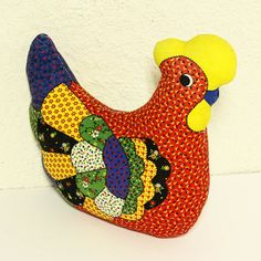 Rooster Or Chicken Quilts | vintage rooster - stuffed rooster - chicken - quilt patterns