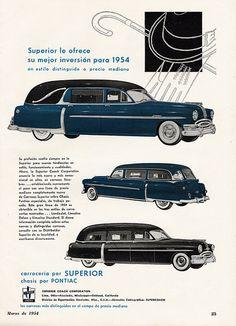 1954 Pontiac-Superior Funeral Coaches Ad (Argentina)