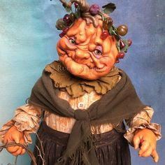 Nodder Pumpkin Lady by Scott Smith © 2016 Sold at Ghoultide Gathering